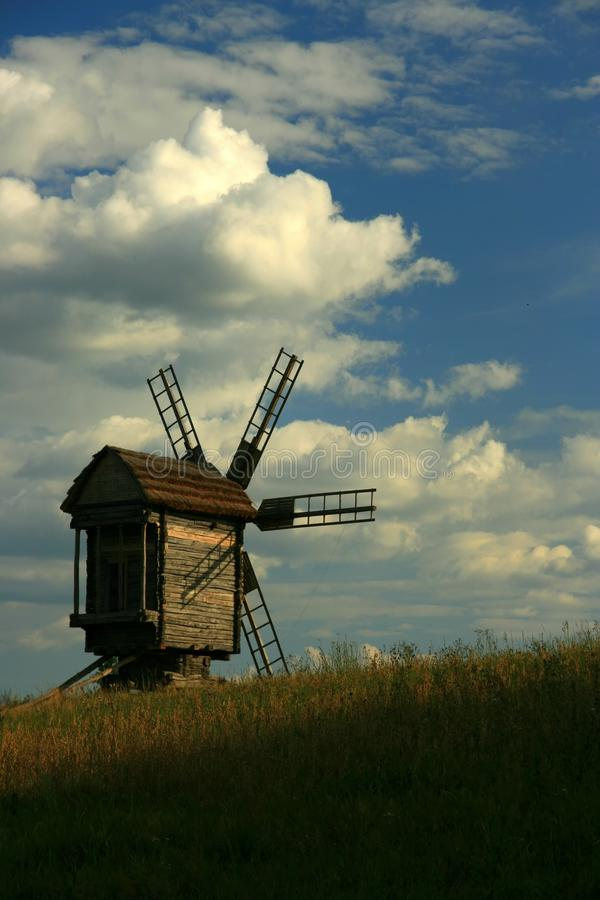 Ukrainian windmill royalty free stock photo