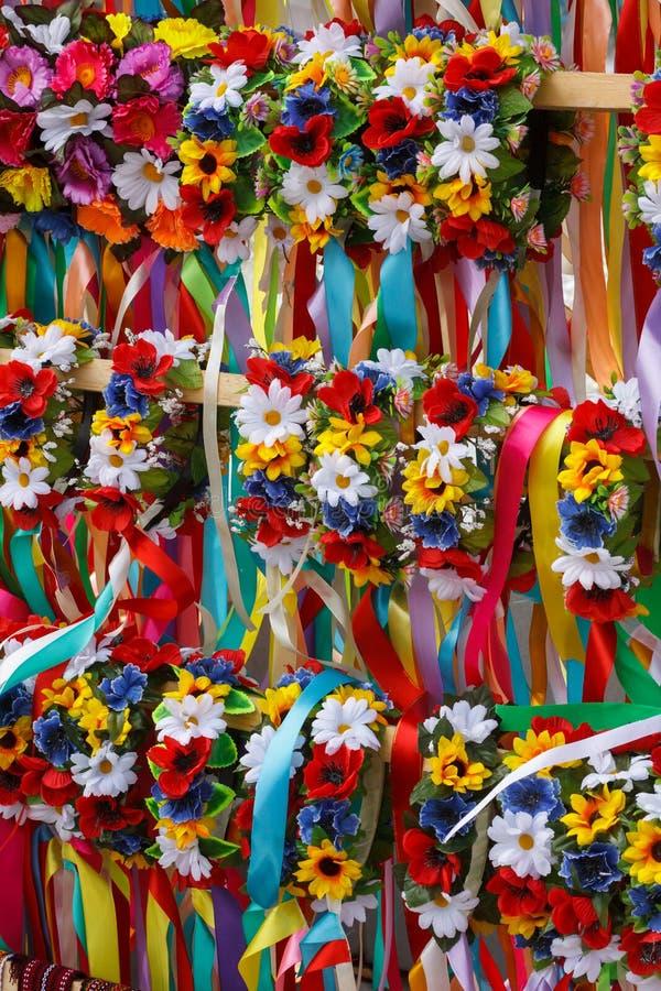 Ukrainian wreath royalty free stock photos