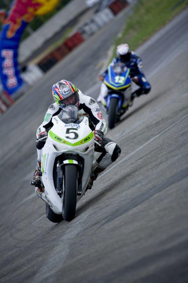 Ukrainien de motocyclette de championnat images libres de droits