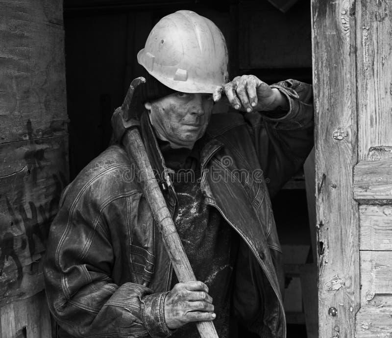 Ukraininan coal miner royalty free stock photo