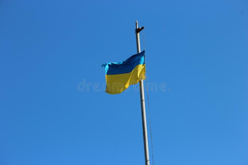 Ukrainische Flagge stockbilder