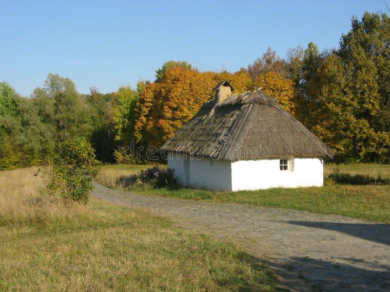 Ukrainische Hütte stockbilder