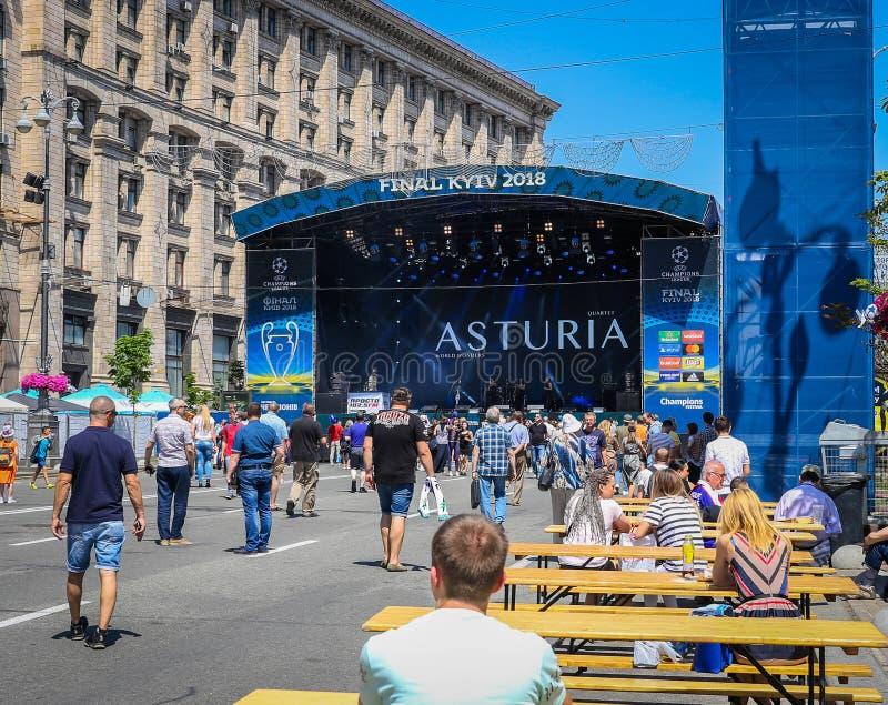 Ukrainische Musikband Asturia lizenzfreie stockfotos