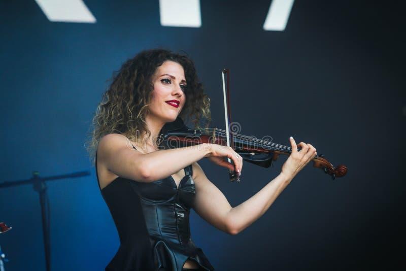 Ukrainische Musikband Asturia stockbild