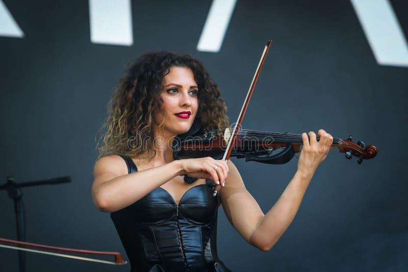 Ukrainische Musikband Asturia lizenzfreie stockbilder