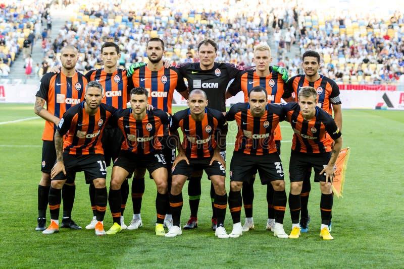 Ukrainischer erster Ligaspiel-Dynamo Kyiv - Shakhtar Donetsk, A lizenzfreie stockfotos
