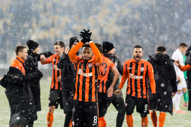 Ukrainischer erster Ligaspiel-Dynamo Kyiv - Shakhtar Donetsk, d stockfoto