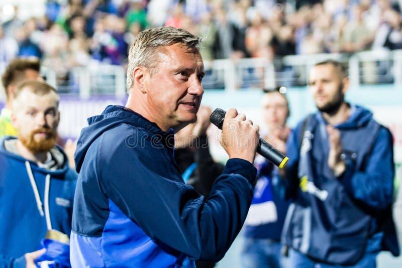 Ukrainischer erster Ligaspiel-Dynamo Kyiv - Shakhtar Donetsk, M stockfotografie