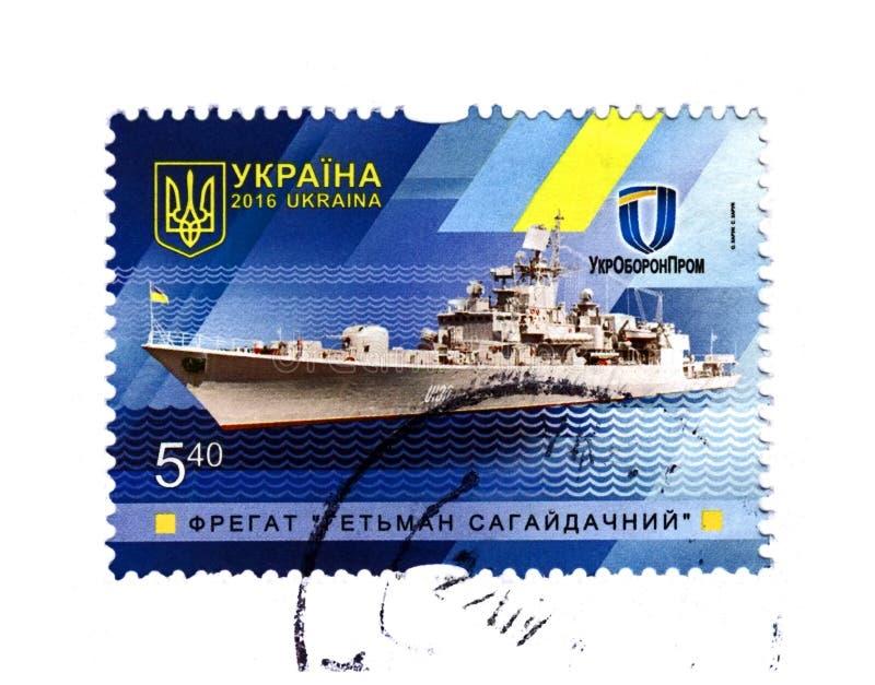 Ukrainischer Fregatte Hetman Sagaydachny, circa 2016, lizenzfreie stockfotos