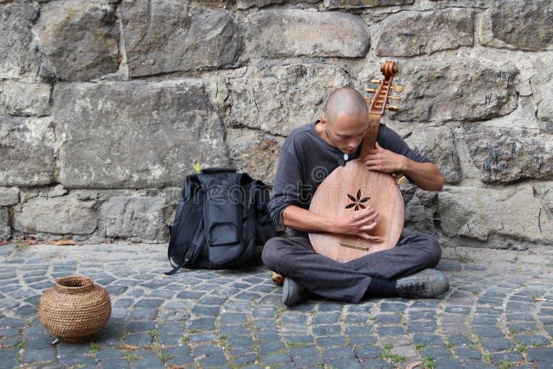 Ukrainischer Straßenmusiker stockfotos
