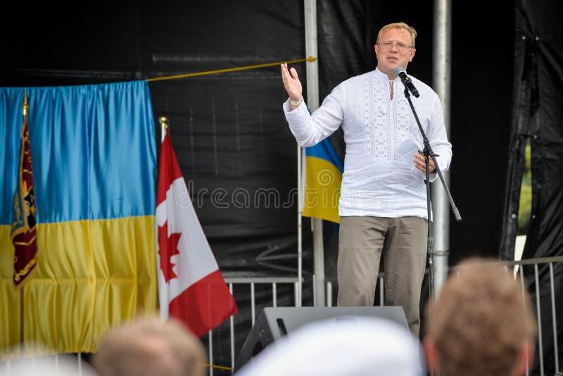 Ukrainischer Unabhängigkeitstag in Toronto lizenzfreie stockfotos