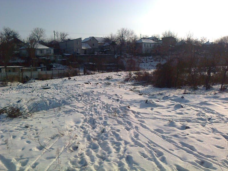 Ukrainischer Winter stockfotografie