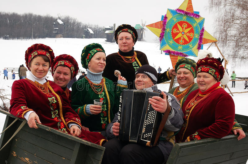 Ukrainisches Weihnachten lizenzfreie stockfotografie