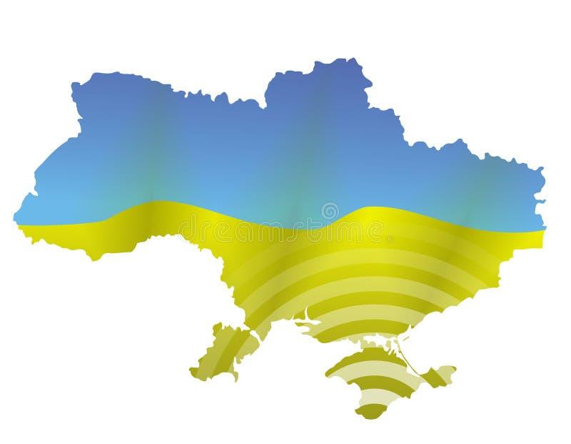Ukrainsk översikt stock illustrationer