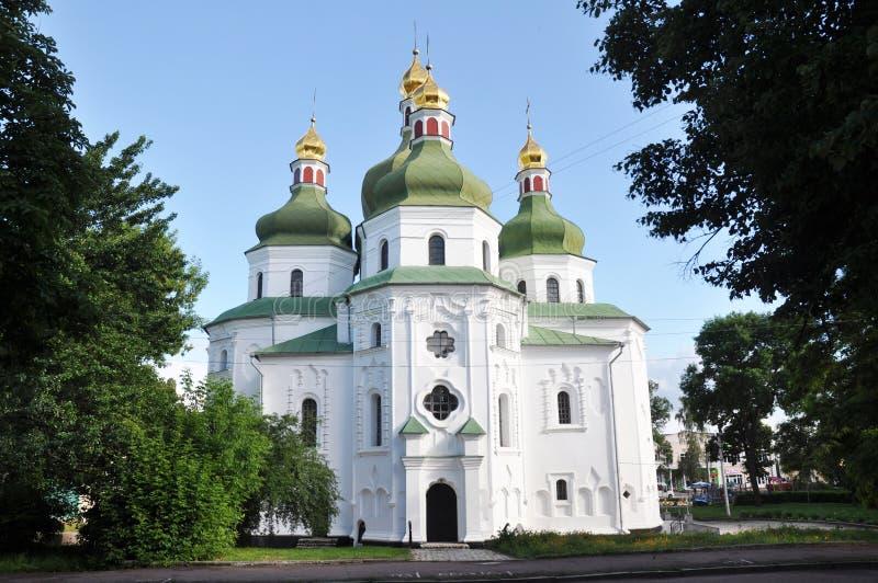 Ukrainsk barock eller barocka kosackbarock eller Mazepa ?r en arkitektonisk stil som d?k upp i Ukraina i den 17th centuren arkivbilder