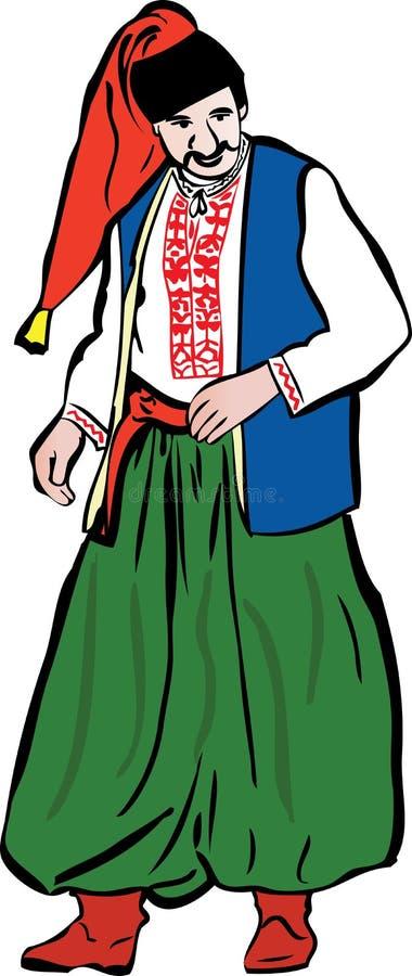 ukrainsk grön byxa för cossack royaltyfri illustrationer