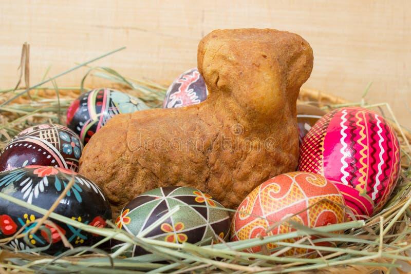 Ukrainsk påsk bakat lamm royaltyfri bild