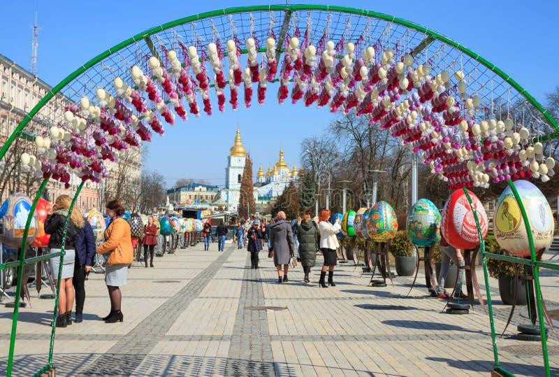 Ukrainsk påskfestival i Kiev, Ukraina royaltyfri bild