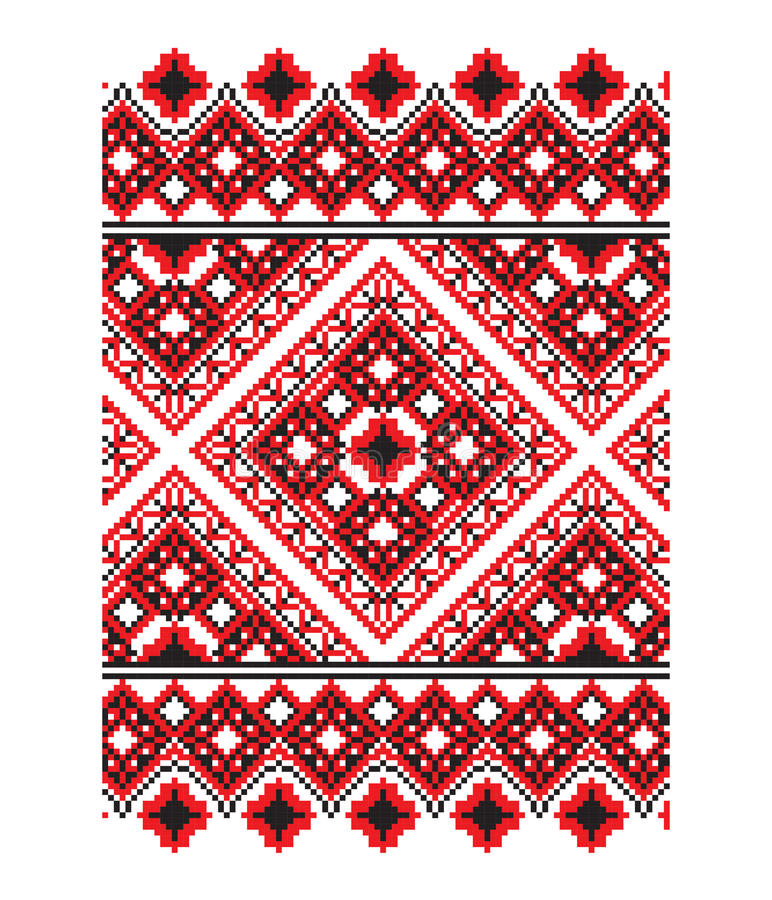 Ukrainsk prydnadvektordel 8 royaltyfri illustrationer