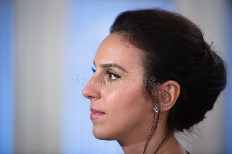 Ukrainsk sångare, aktris och låtskrivare Jamala royaltyfri fotografi