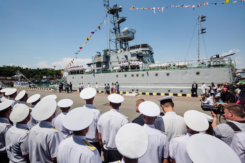 Ukrainska sjö- styrkor royaltyfri foto