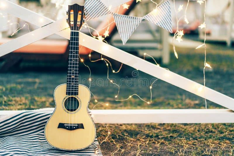 Ukulélé de guitare d'instrument de musique photo libre de droits