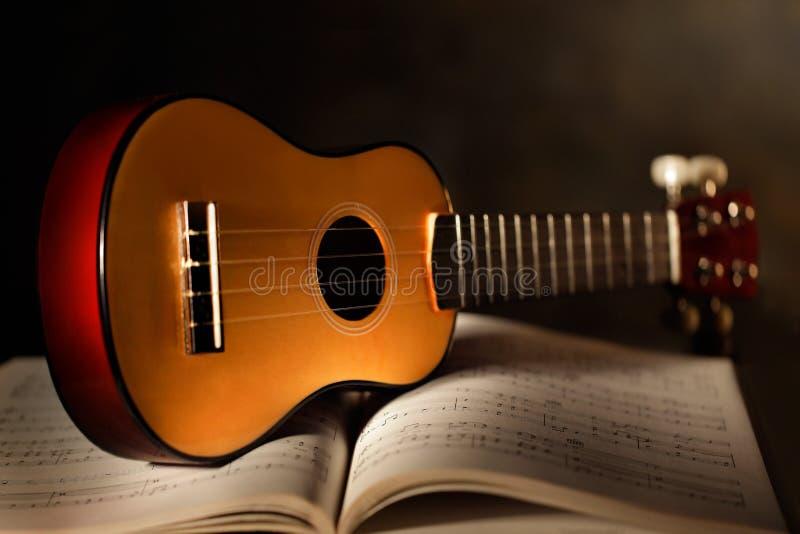 Ukulele με το μουσικό αποτέλεσμα στοκ εικόνες