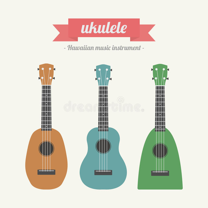ukulele royaltyfri illustrationer