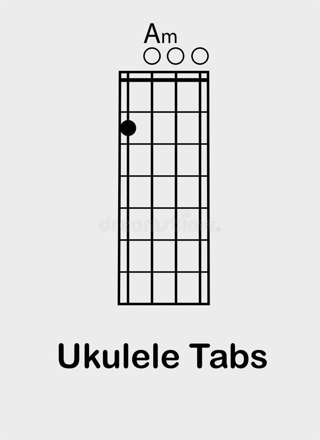 Free Ukulele Chords A Minor Royalty Free Stock Image - 149191606