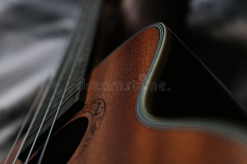 Ukulele fretboard, Teil der ukulele hawaiianischen Gitarre stockfotografie