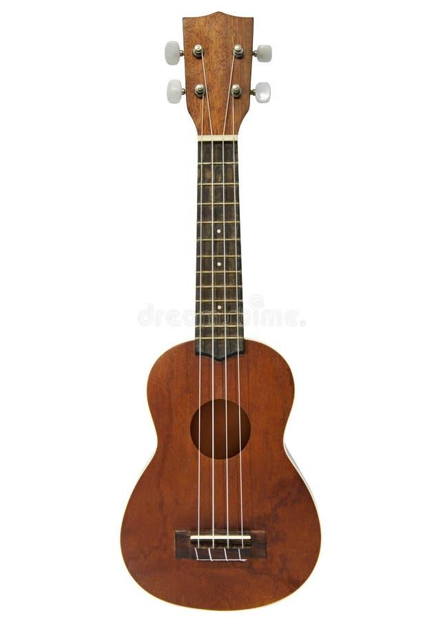 Ukulele guitar on white background royalty free stock photo