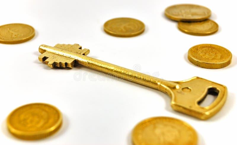 ukuwać nazwę złotego klucz obrazy royalty free