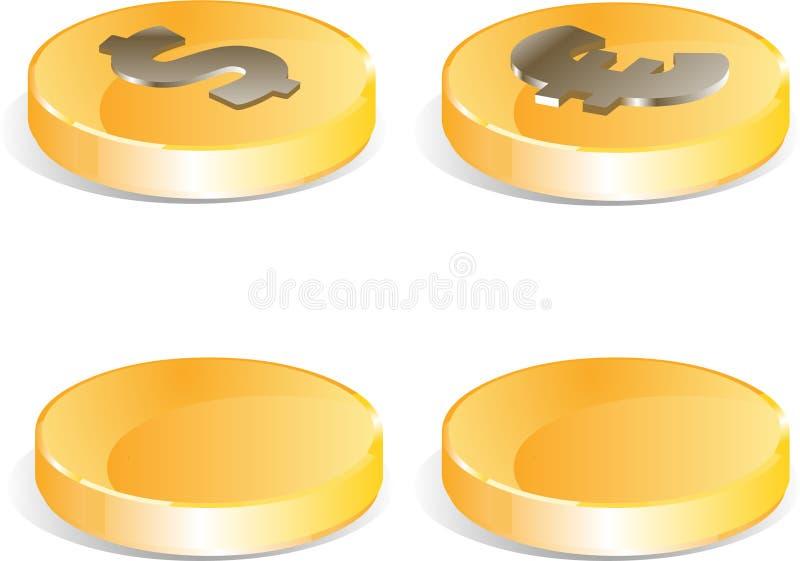 ukuwać nazwę złotego set royalty ilustracja