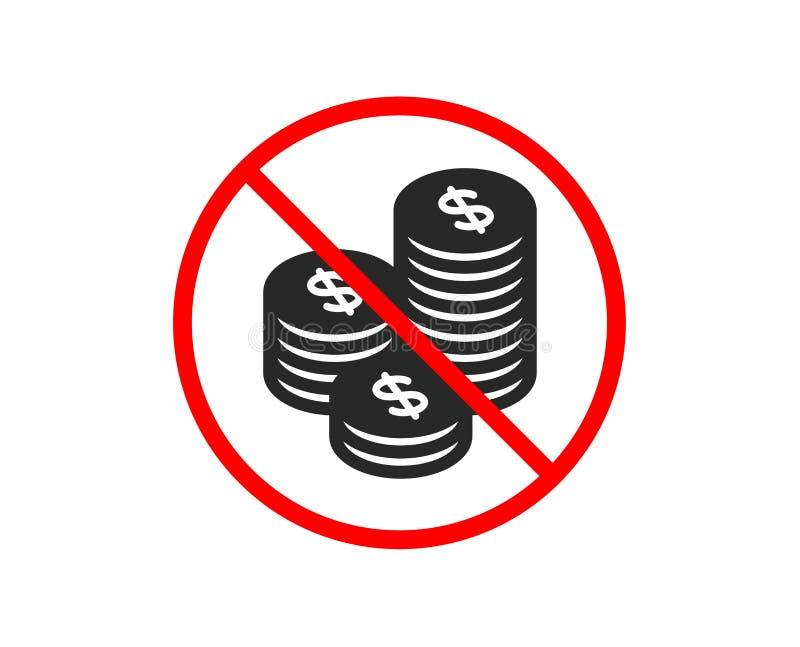 Ukuwa nazwę pieniądze ikonę Bankowości waluta wektor royalty ilustracja
