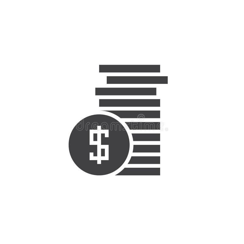 Ukuwa nazwę ikona wektor, pieniądze stały logo, piktogram odizolowywający na bielu royalty ilustracja