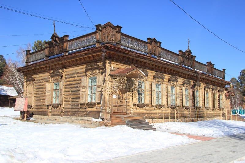 Ulán Udé, Buriatia, Rusia, el 5 de marzo de 2019 Museo etnográfico de la gente que vive detrás de Baikal imagenes de archivo
