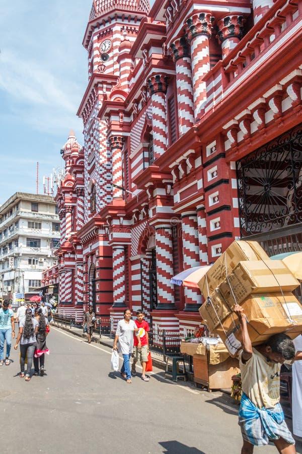 Ul Meczetowy Czerwony meczet obrazy stock