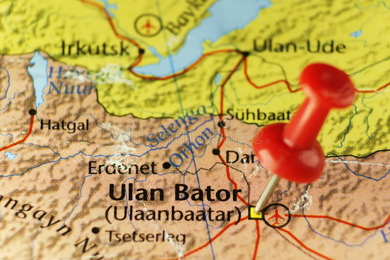 Ulaanbaatar lub Ulan Bator kapitał Mongolia obraz royalty free