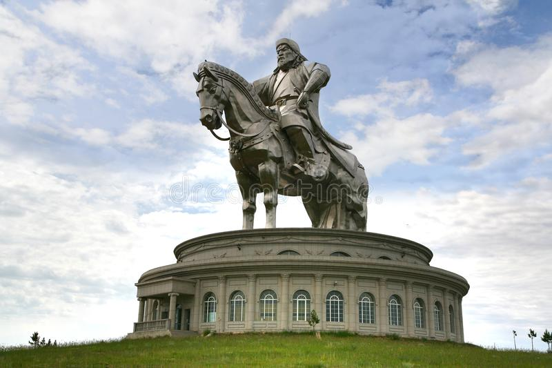 Ulaanbaatar Mongolië 3 Juli, 2016 in Genghis Khan Statue op horseback, in Tsonjin Boldogeast van Mongoolse hoofdulaanbaa royalty-vrije stock fotografie