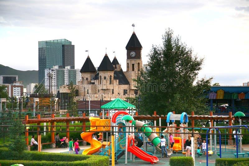 Ulaanbaatar Mongolia july 3 ,2016 : National Amusement Park in Ulaanbaatar , Mongolia royalty free stock photo