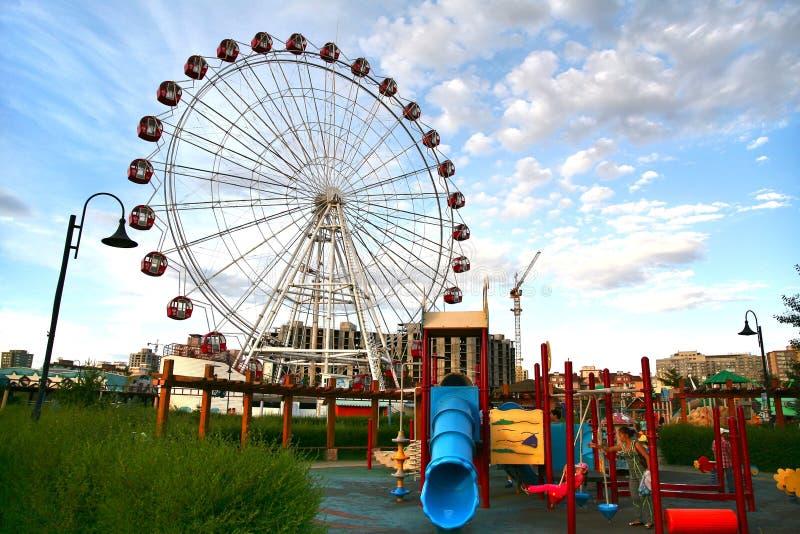 Ulaanbaatar Mongolia july 3 ,2016 : National Amusement Park in Ulaanbaatar , Mongolia royalty free stock image