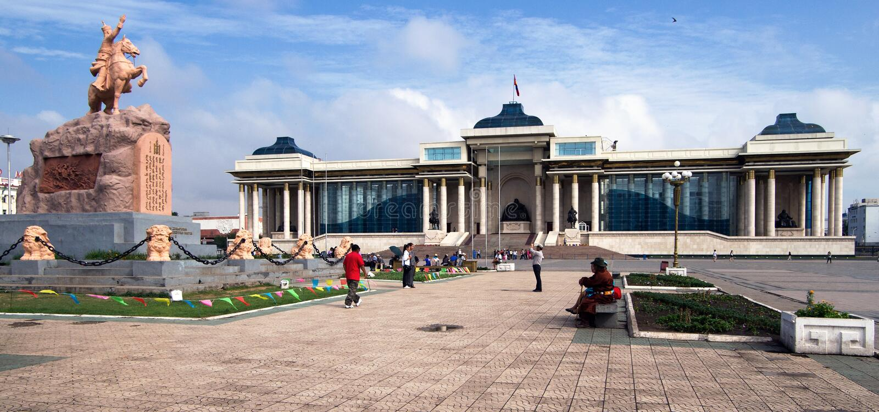Ulaanbaatar stolica Mongolia zdjęcia stock
