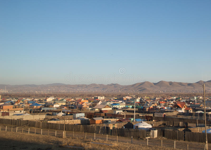 Ulan Bator, Mongolia Photographed From the Train stock images