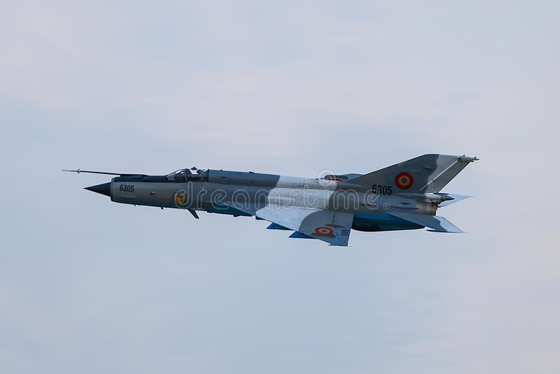 Ulanflugzeug MIG 21 stockfoto
