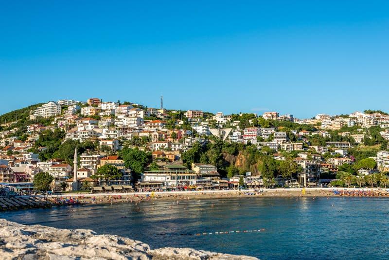 Ulcinj самый южный городок в Черногории стоковые фото