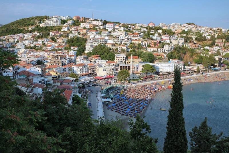 Mala Plaza Beach In Ulcinj, Montenegro royalty free stock photos