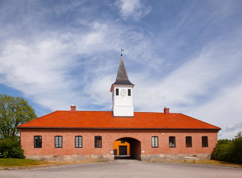 Ulefos Hovedgaard Museum Ulefoss Telemark Norway. ULEFOSS, NORWAY - JULY 18, 2018: Ulefos Hovedgaard, part of the Telemark museum, a popular tourist attraction royalty free stock photography