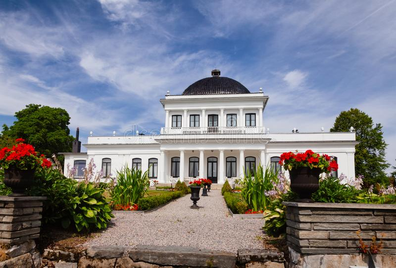 Ulefos Manor House Hovedgaard Ulefoss Telemark Norway. Empire-style Ulefos Manor House Hovedgaard, a popular tourist attraction in Telemark County, Norway stock image
