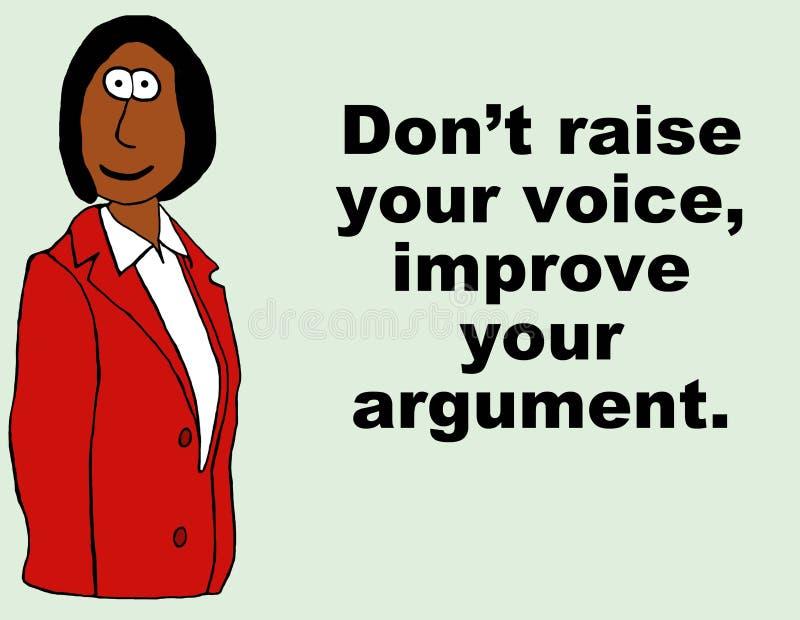 Ulepsza Twój argument ilustracja wektor