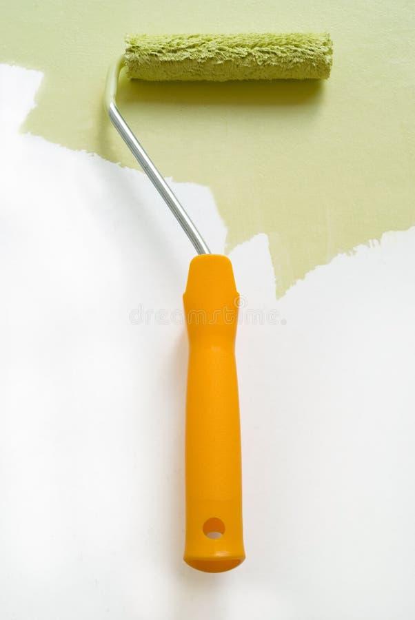ulepszenia farby rolki do domu zdjęcie stock
